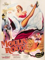 Affiche Originale - Moulin Rouge - Toulouse Lautrec - La Goulue Jane Avril 1952