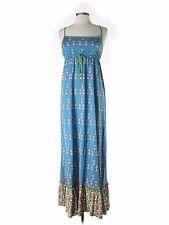 Juicy Couture 'Jackie' Maxi Dress Sz S - Squash Blue Print - Beautiful Rare NEW