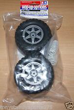 Tamiya 54742 GF-01 Cross Country Tire & Spring Set, GF01/Land Cruiser 40 Pick-up