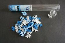 Plus Plus Building Blocks Toy Tube - 50 Pieces Winter Colors White Lt & Dk Blue