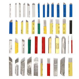 Microblading Eyebrow Needles Tattoo Permanent Manual Pen Blade Pins 20/50/100pcs
