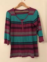 Ladies Top Size 14 M&S Stripe Casual <JJ3521