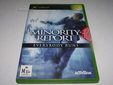 Minority Report Everybody Runs Xbox Original PAL  *Complete*