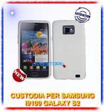 Custodia Silicone BIANCO + Pellicola per Samsung I9100 galaxy s2 plus I9105