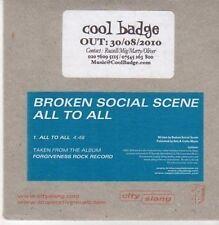 (CG244) Broken Social Scene, All To All - 2010 DJ CD