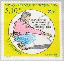 ST. PIERRE MIQUELON SPM 1994 671 598 Petanque World CS Spieler Player Sport MNH