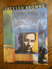old stock JACKSON BROWNE Songbook WORLD IN MOTION Sheet Music 10 songs 1989