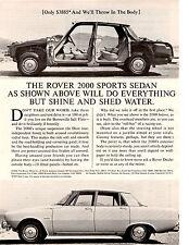 1965 ROVER 2000   ~  GREAT ORIGINAL PRINT AD