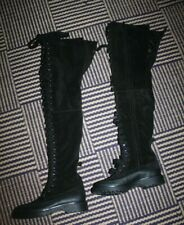 NEW & And Other Stories Thigh High Black Chunky Lace Up Boots RRP £235 - UK 5 38