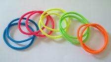 Lot de 10 élastiques légers fins sans bague bleu jaune vert rose fluo ELA028