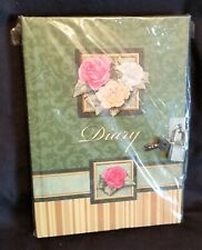 Martin Designs Roses Style Hard Cover Diary ~ Lined Sheets, Lock & Key ~ New