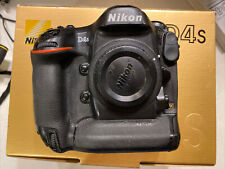 Nikon D4S 16.2 MP Digital SLR Camera - Black (Body Only) In Box With Charger