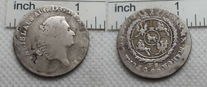 1764-1795 Antique Silver Coin 4 GROSSUS Poland Polish  Stanislaus Augustus  #104
