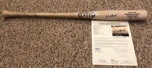 WANDER FRANCO Game Used Signed Autograph Auto Baseball Bat Tampa Bay Rays JSA