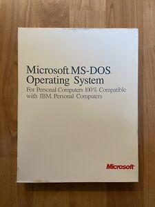 "Microsoft MS-DOS Operating System 1987 Vintage Software SEALED ""NEW"" 3.5 Disks"