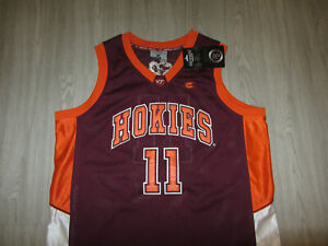 NWT Virginia Tech Hokies NCAA Colosseum Basketball Jersey Sewn College L #11
