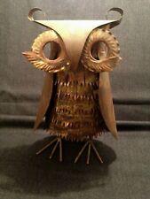 Mid Century Metal Brutalist Owl Statue