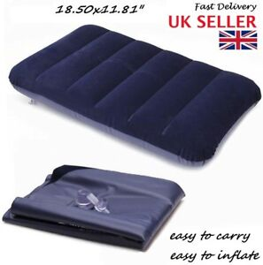 Large Travel Camping Pillow - Inflatable Head Rest Cushion Rectangle - hot sale
