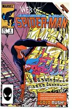 1)WEB OF SPIDER-MAN #6(9/85)SECRET WARS II(BYRNE/ZECK)CGC WORTHY(9.6/9.8)KINGPIN