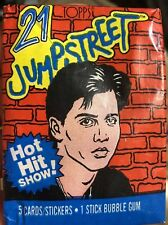 21 jump street trading card pack 1987 Johnny Depp TV Show Deluise Robinson Nguye