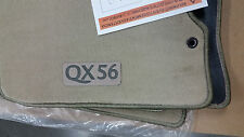 2007/EARLY 2008 Infiniti QX56 Factory OEM Carpeted Floor Mats Set - BEIGE