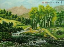 ORIGINAL ASIAN FINE ART CHINESE WATERCOLOR PAINTING-Landscape-Spring