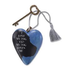 LOVE MY DOG Art Heart Sculpture Ornament Key to My Heart New valentine