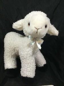 SHEEP STUFFED ANIMAL, LAMB PLUSH, EASTER WOLLY LAMB, NURSERY GIFT