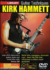 Lick Library técnicas de Guitarra Kirk Hammett aprender a jugar tutor Rock Metal Dvd