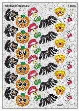Halloween Sparkle Reward Stickers - Pumpkins, Ghosts, Black Cats, Bats, Spiders