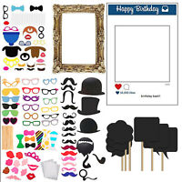 Party Photo Booth Props Selfie Fun Instagram Frame Birthday Wedding Festive