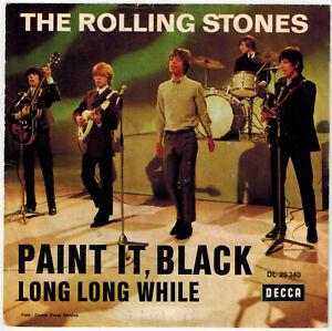 "Rolling Stones Single 7"" Paint It Black - Germany Decca DL 25 240"