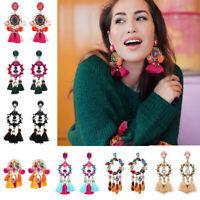 Fashion Women Bohemian Earrings Handmade Tassel Ear Stud Boho Earring Jewelry