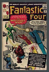 Marvel Comics FANTASTIC FOUR 20 VGF 5.0 1963 1st Appearance molecule man