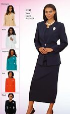 Sunday Best Women Church Suit - Soft Crepe Fabric - Standard to Plus Size - L295