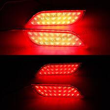 Pair LED Rear Bumper Reflector Brake Lights For Subaru Exiga Levorg WRX STI