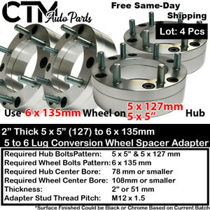 "4PC 2"" THICK 5x5 