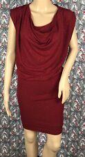 Alice Olivia Women's Red Burgundy Maroon Glitter Drape Blouson Dress Size XS