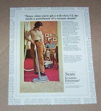 1971 print ad - Sears Kenmore Powermate vacuum cleaner family home Advertising