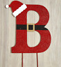 Santa Claus Decor Outdoor Lawn Yard Garden Stake Christmas Large Monogram B