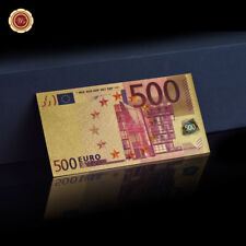 WR Euro $500 Banknote 24K Gold Color Europe Polymer Money Collection 2018 Gifts