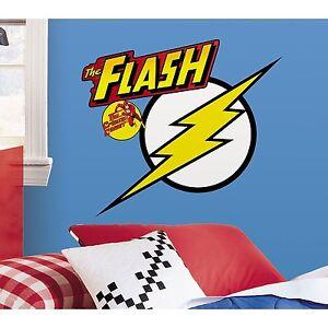 Roommates DC Classic Flash Superhero Logo Giant Wall Decal