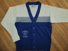 vtg Donnell Atoms Cardigan Sweater Varsity High School 60s 70s Blue 34 Small
