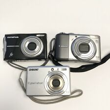 (3) Mixed Cameras Canon A2000IS, Sony DSC-S730 7.2MP, Olympus fe-46 12MP