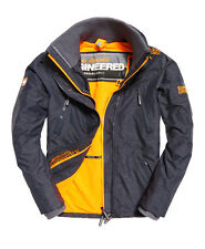 superdry mens polar wind attacker jacket blue marl size m bnwt rrp 79.99