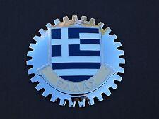 GREEK FLAG CAR GRILLE BADGE - EMBLEM MERCEDES FORD VOLKSWAGEN AUDI CHEVY