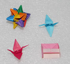 Handmade Origami Mini Cranes Piano 12 Sided Rainbow Star Yasutomo Japanese Paper