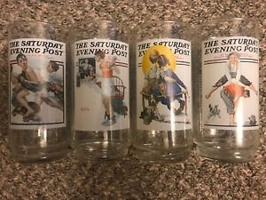 1987 Arby's Norman Rockwell Saturday Evening Post Glasses