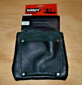 BUILDPRO Hold All Bag Leather Heavy Duty Stitching BLACK LBFHAB