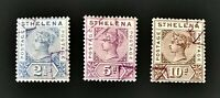 British St Helena Stamp Collection #44, 45, 46 Used Free Ship